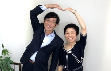 渡辺恭代カウンセラーと竹内代表