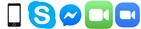 電話・Skype・Messenger・facetime・zoom